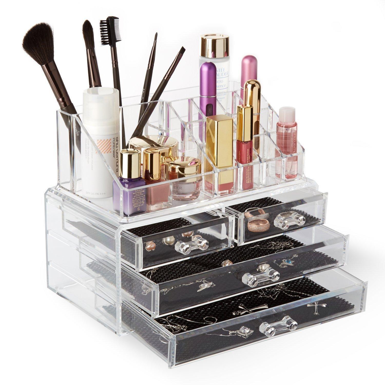 Boîte de rangement pour maquillage Allewie Spaire 4-en-1 (avec 3 tiroirs)