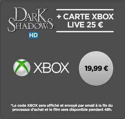 Les Miller, une famille en herbe ou Dark Shadows en location HD 48h + Carte Xbox Live de 25€