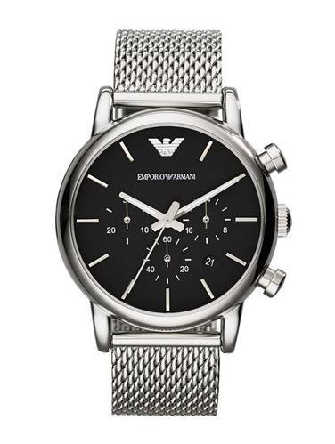 Montre Homme Emporio Armani AR1811 - Quartz Chronographe, Bracelet Acier Argent