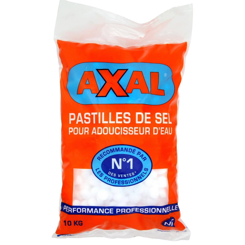 Sac de sel pour adoucisseur Axal 10 Kg (avec 2€ sur la carte)