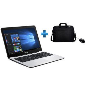 """Pc portable 15.6"""" HD Asus - F555YI-XX162T (AMD E1-7010, 8 Go RAM, 1 To HDD, Windows 10) + Sacoche + Souris"""