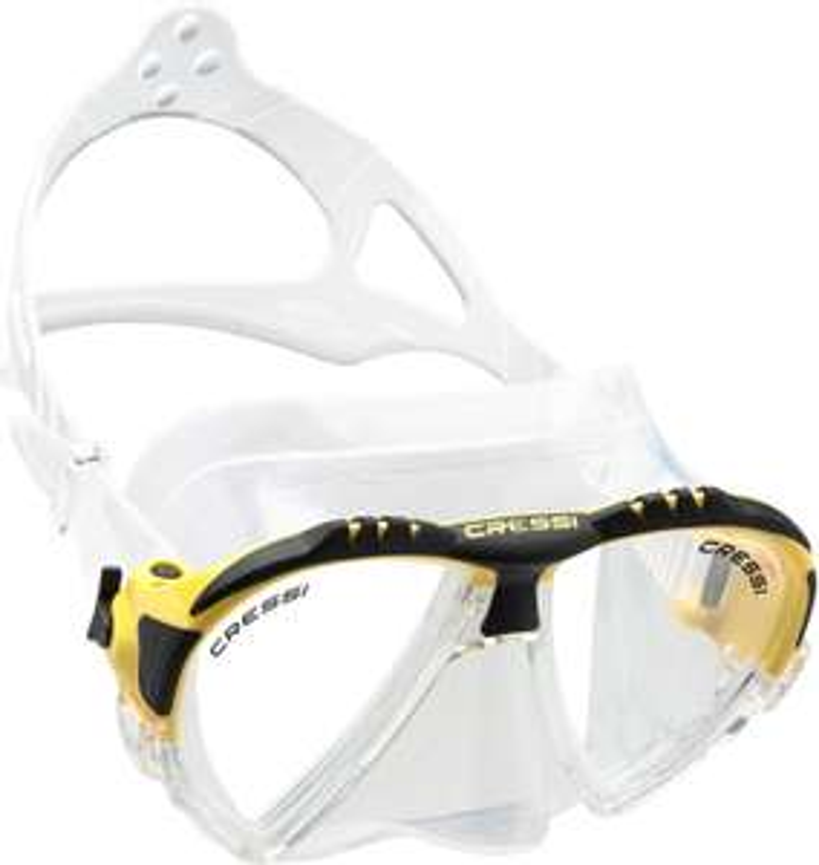 Masque de plongée Cressi Matrix - jaune