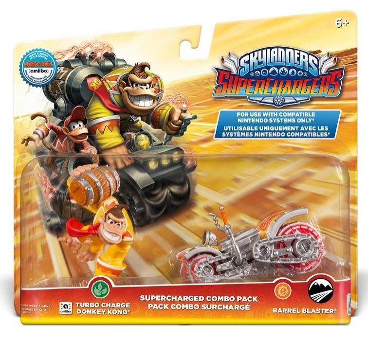 Figurine Skylanders : Superchargers Dual Pack  Bowser ou Donkey Kong