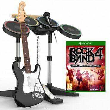 Pack Rock Band 4 + Guitare Sans-fil Fender Stratocaster + Batterie + Micro sur Xbox One