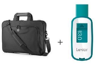 """Sacoche HP Value Top Load pour PC Portable de 15 à 16"""" + Clé USB 3.0 Lexar Jumpdrive S25 - 16Go"""