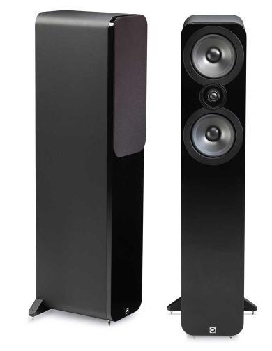 Paire d'enceintes colonnes Q Acoustics 3050 - Cuir noir