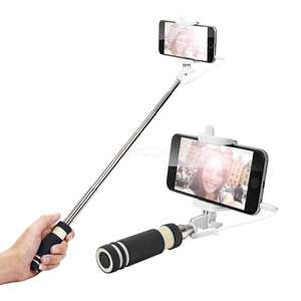 Perche à selfie télescopique noire - Livraison incluse