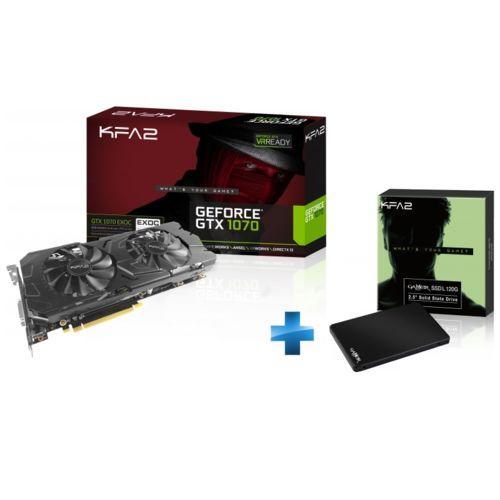 Carte graphique KFA2 GeForce GTX 1070 EXOC 8 Go + SSD 120 Go + Gears Of War 4 offert
