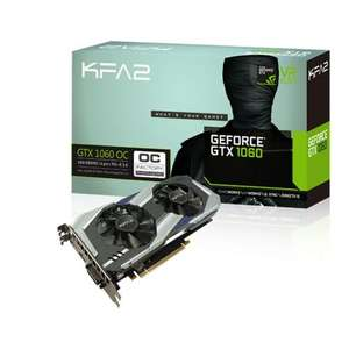 Carte graphique KFA2 GeForce GTX 1060 OC 6Go DDR5