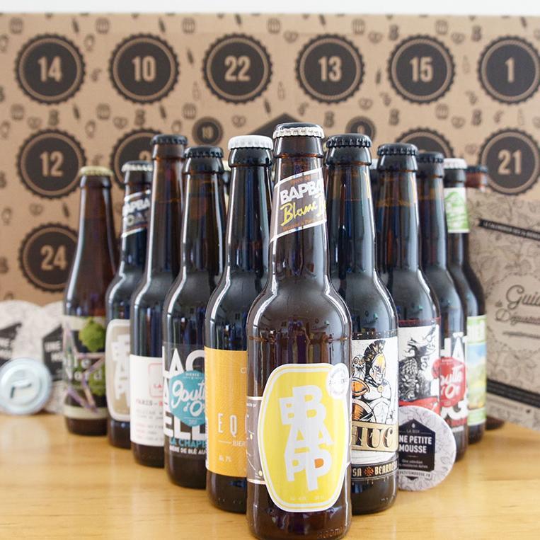 Calendrier de 24 bières artisanales françaises