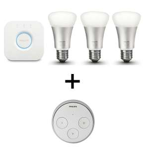 Pack d'ampoules connectées Philips Startkit Hue Color V2 + Remote Hue Tap