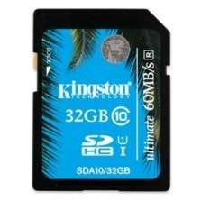 Carte SD 32Go Kingston SDHC Classe10 UHS-I 60Mb/s