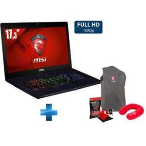 """PC Portable gamer 17.3"""" MSI Stealth Pro GS70-6QE-023XFR (i7-6700HQ, 8Go RAM, 1 To + 128 Go SSD, GTX970M) FreeDos + Pack Dragon Fever Summer"""