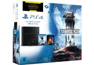 Pack console Sony PS4 1 To Noire + Star Wars Battlefront + Blu-ray Star Wars : Le Réveil de la Force
