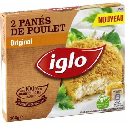 2 Boites de Panés de Poulet Original Igloo (via carte de fidélité + Prixing)
