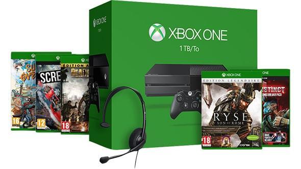 Pack Xbox One 1 To + Dead Rising 3 + Killer Instinct + One Sunset Overdrive + Ryse : Son of Rome + Screamride