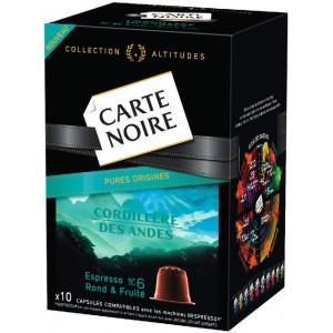 2 boîtes de cafés Carte Noire Capsules Espresso gratuites