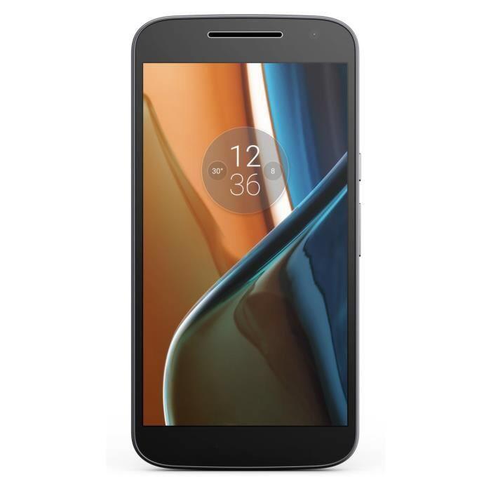 """Smartphone 5.5"""" Lenovo Moto G4 - double-SIM, 2 Go de RAM, 16 Go, noir"""
