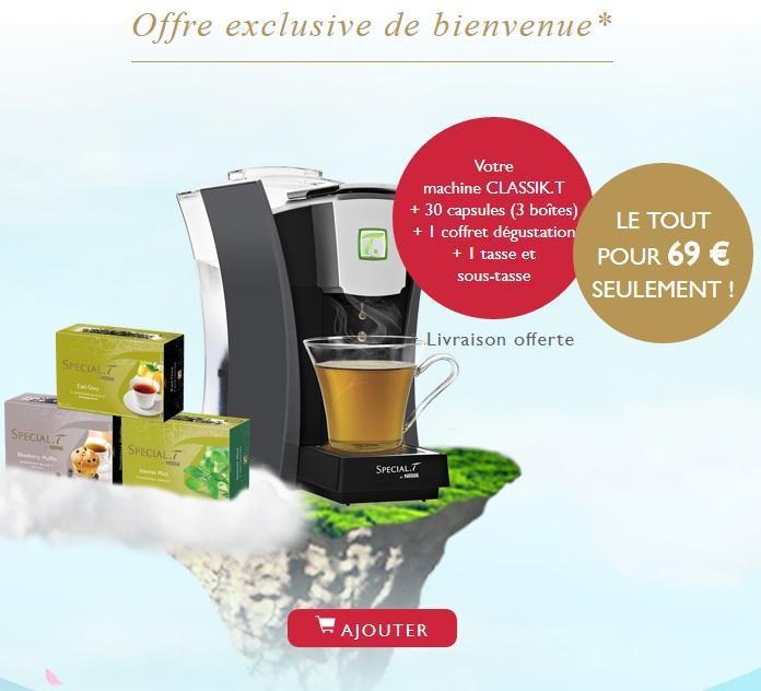 Machine Classik Special T + 30 capsules +1 tasse & sous-tasse + 1 Coffret dégustation