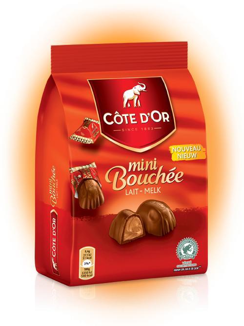 2 paquets de chocolat Côte d'Or Mini bouchée (via Shopmium)