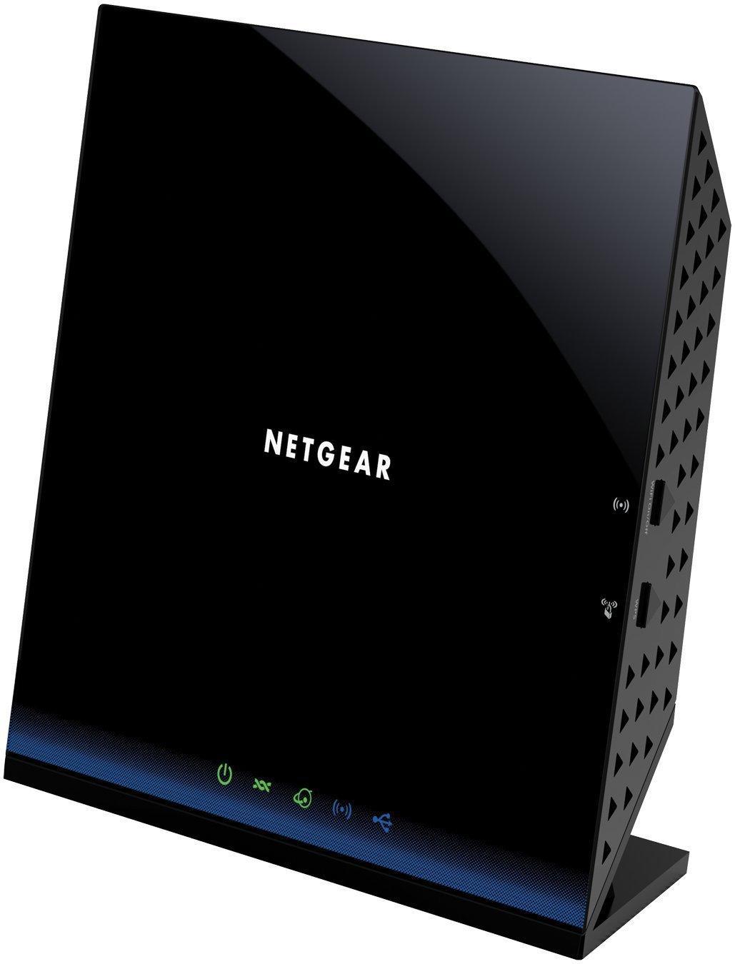 Routeur Netgear D6200-100PES Wi-Fi 8C Dual Band Noir - 1200Mbps, 4 Ports Gibabit, 1 Port USB