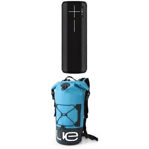 Pack enceinte Bluetooth Ultimate Ears UE Boom 2 (noir) + sac UE Backpack (étanche, bleu)