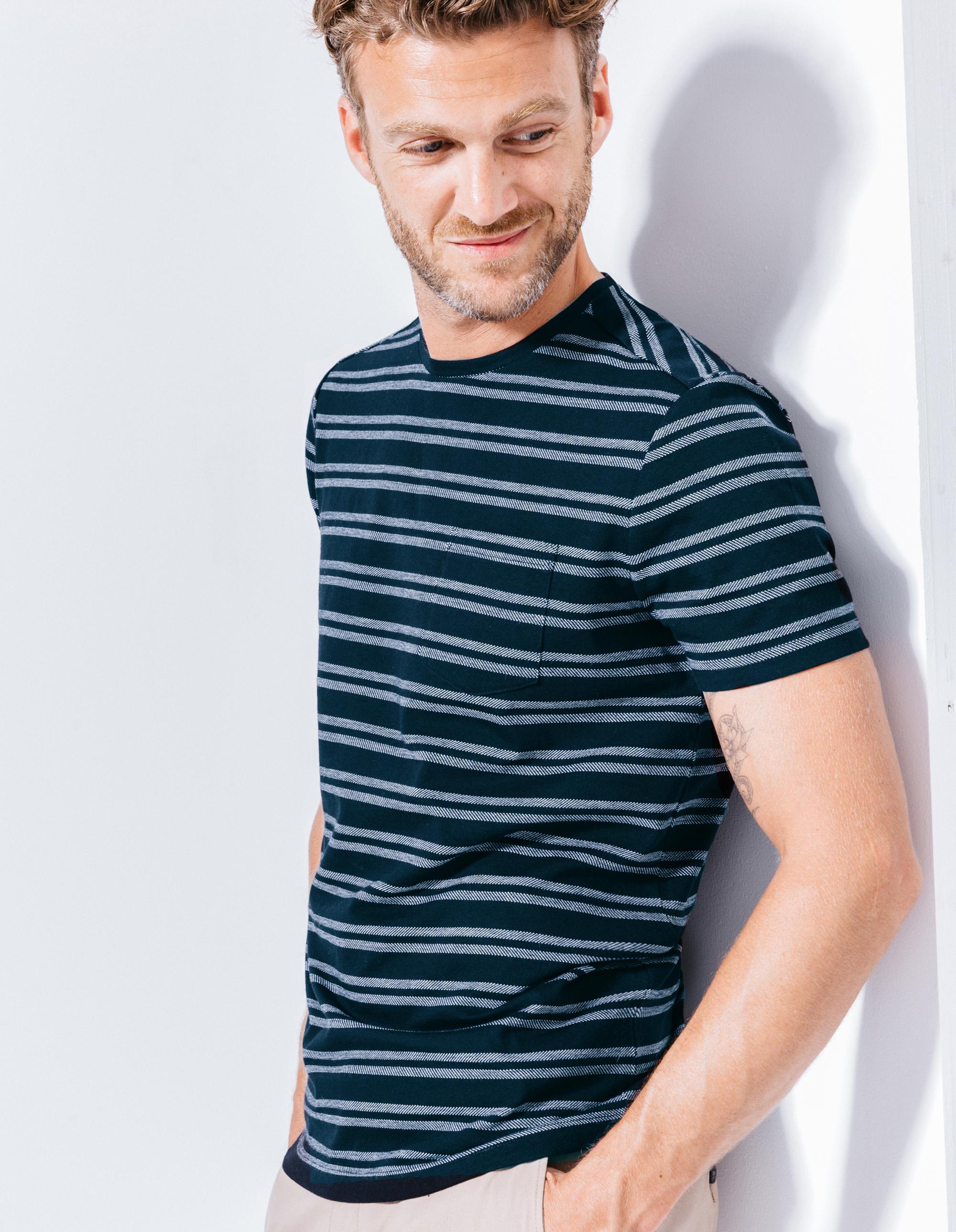 Jusqu'à 50% de réduction sur une sélection de vêtements - Ex : Tee-shirt manches courtes rayé