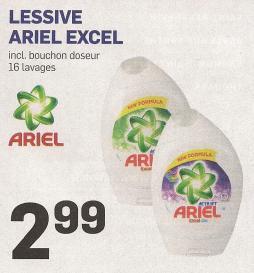 Lessive Ariel Excel inclus bouchon doseur 16 lavages