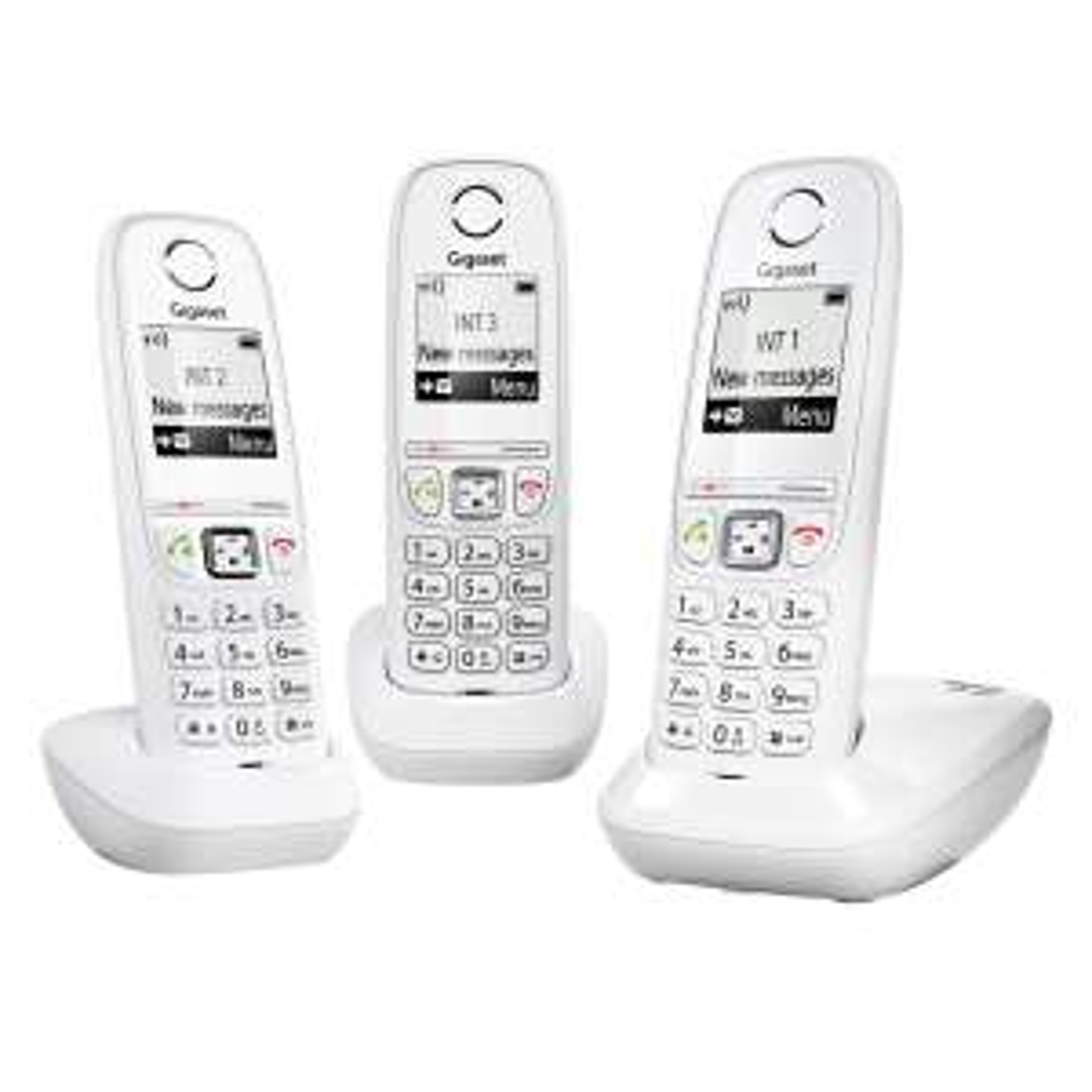 Lot de 3 téléphones fixes Gigaset AS405 Trio - DECT/GAP, blanc
