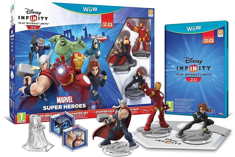 Pack de Démarrage Marvel Super Heroes pour Disney Infinity 2.0 sur Wii U + Carte Collector Star Wars