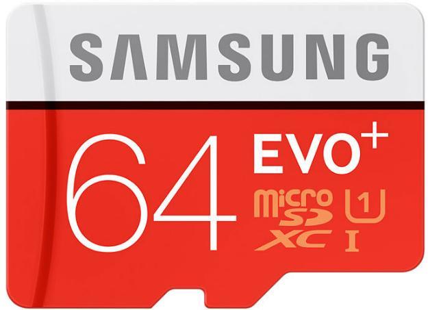 Carte microSDXC Samsung Evo Plus Classe 10 - 64 Go avec adaptateur