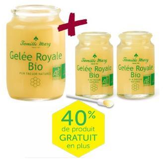 Gelée Royale Bio : 1 flacon de 100g + 2 flacons de 20g offerts