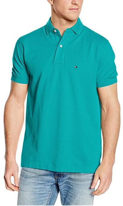 Polo Tommy Hilfiger Knit S/S RF (du M au XL, bleu)