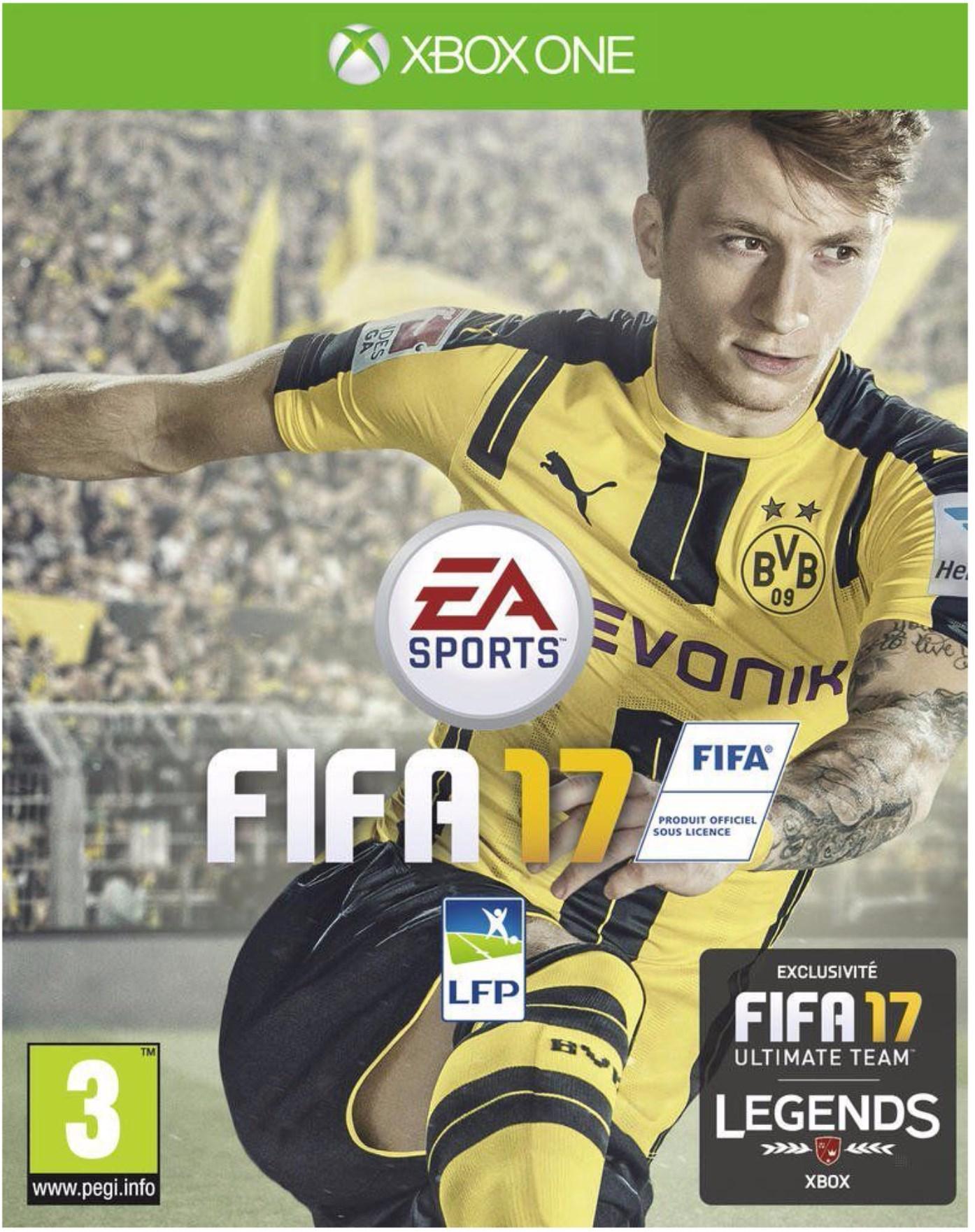 Jeu Fifa 17 sur Xbox One + 15€ en carte cadeau