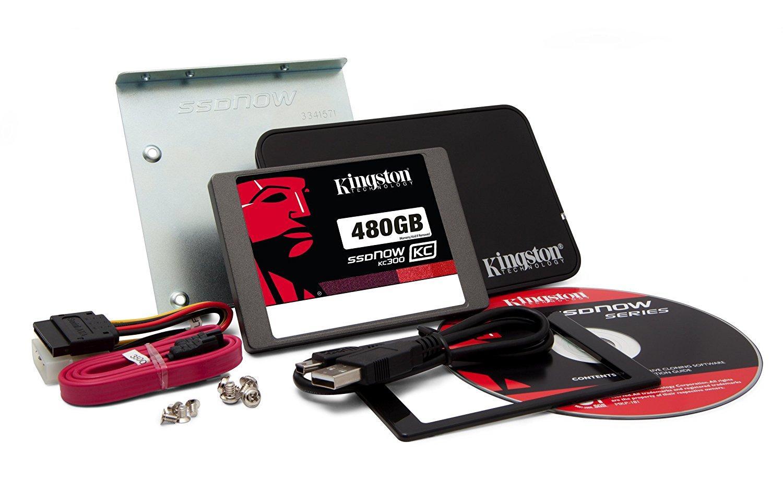 """SSD interne 2.5""""avec Kit pour PC/portable  Kingston KC300 (Entreprise, MLC) - 480 Go"""