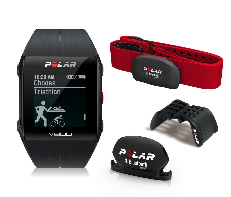 Montre Cardiofréquencemètre / GPS Polar V800 HRM avec capteur de vitesse/cadence et support vélo
