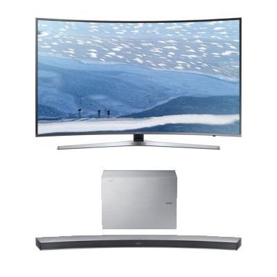 "TV 55"" Samsung UE55KU6650UXZF Incurvée, 4k + Barre de son 6.1 Samsung"
