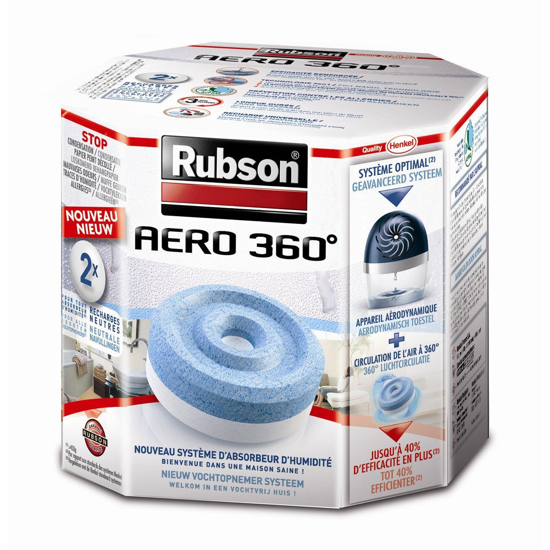 Lot de 8 Recharges pour absorbeur d'humidité  Rubson Aero 360°