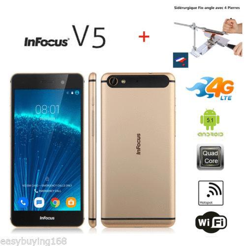 "Smartphone 5,2"" InFocus V5/M560 - Android 5.1, MTK6753 1.3GHz, 2Go de Ram, 16Go"