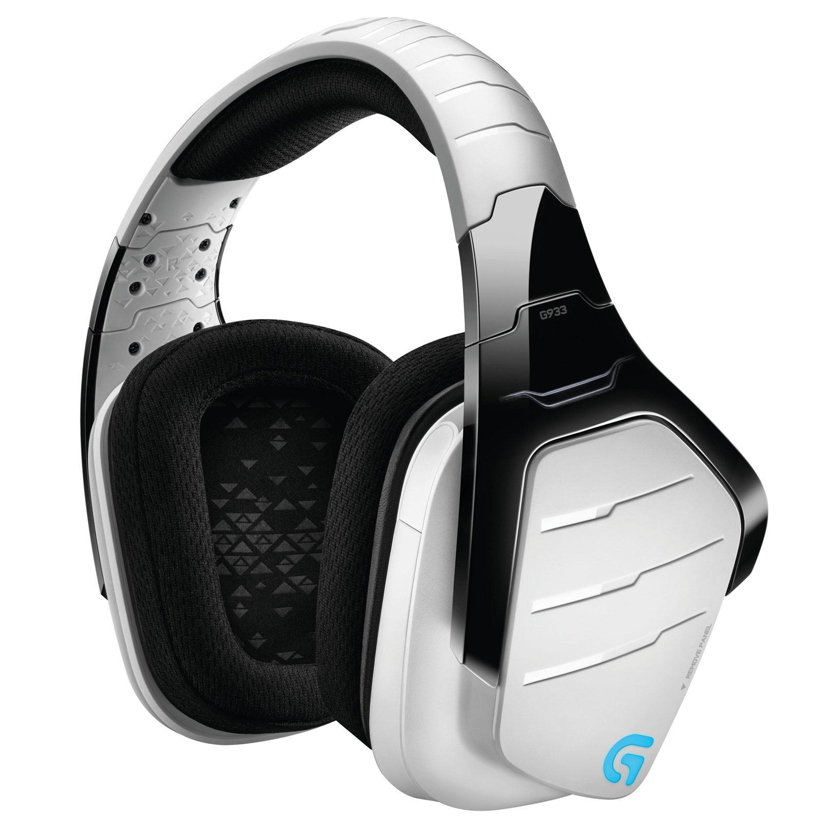 Casque-micro Gaming Sans-fil Logitech G933 Artemis Spectrum Blanc - Surround 7.1
