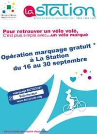 Marquage vélo Bicycode gratuit