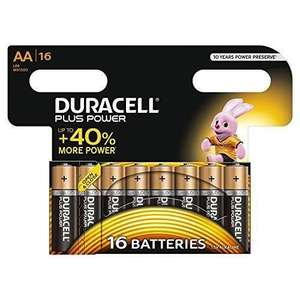 Lot de 16 piles AA ou AAA Duracell Plus Power