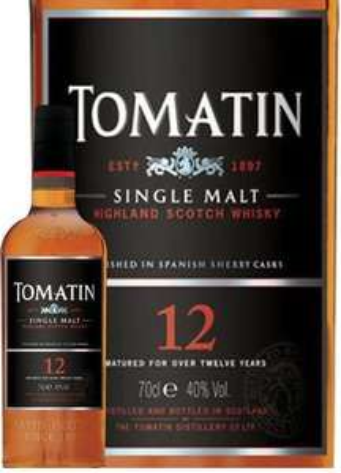Whisky Single malt Tomatin 12 ans d'âge 70cl