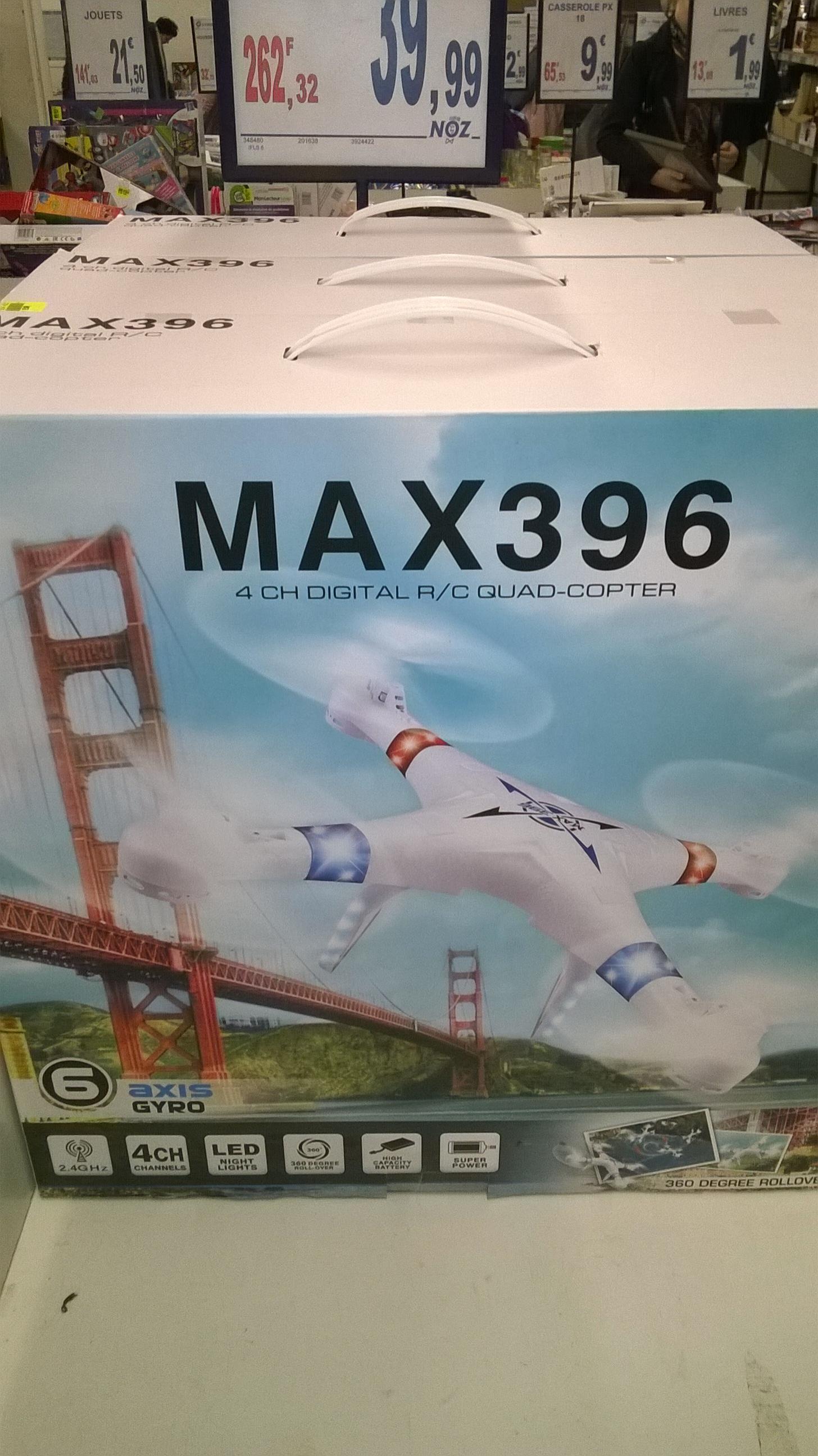 Drone Max 396 avec radiocommande 2.4 Ghz