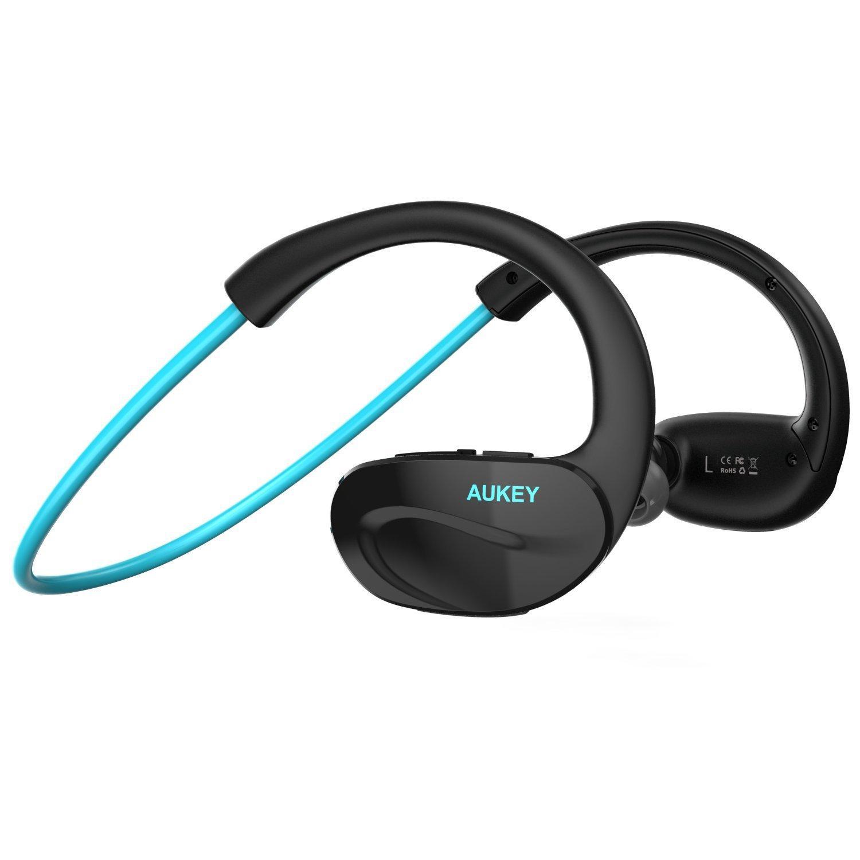 Casque Bluetooth Aukey - Bleu