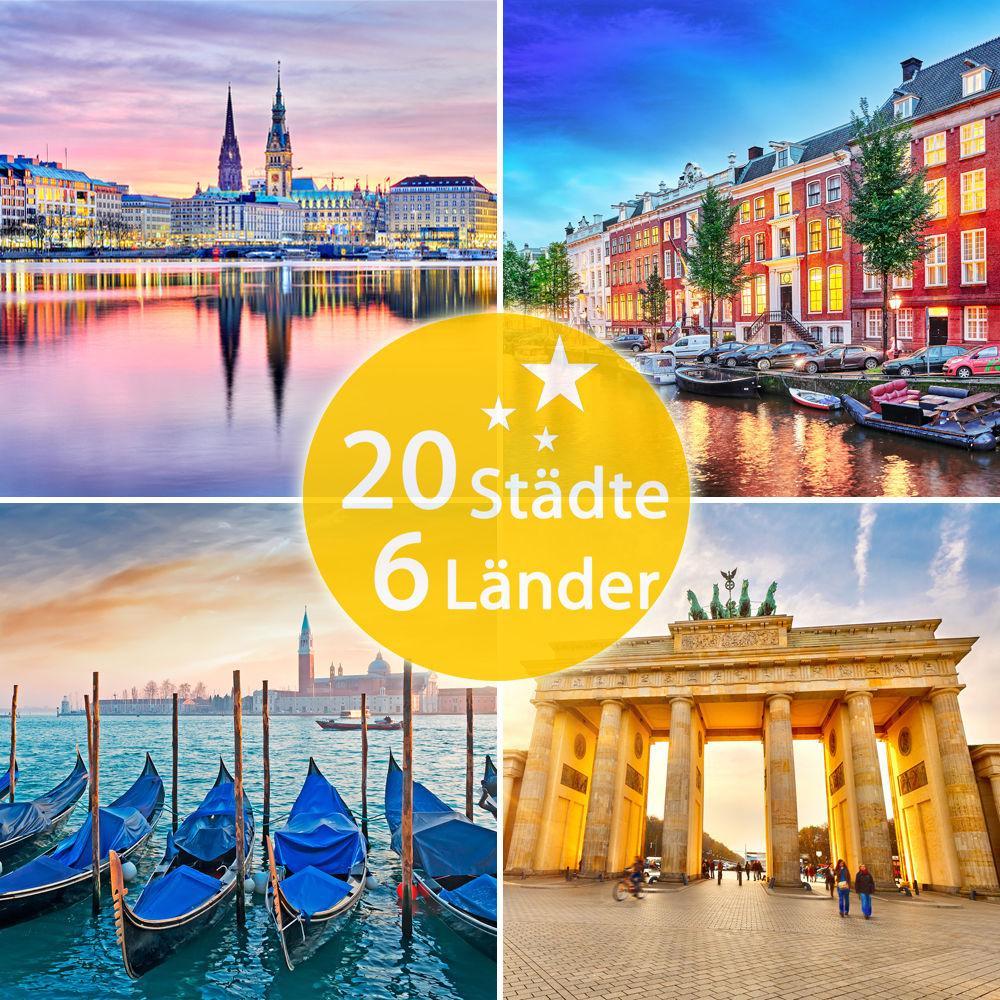 hébergement de  3 jours au choix dans 20 villes / 6 pays (en Europe)  pour 2 personnes chez A/O Hotels