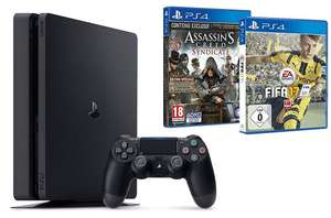 Pack Console PS4 Slim 1 To + Fifa 17 + Assassin's Creed : Syndicate - édition spéciale
