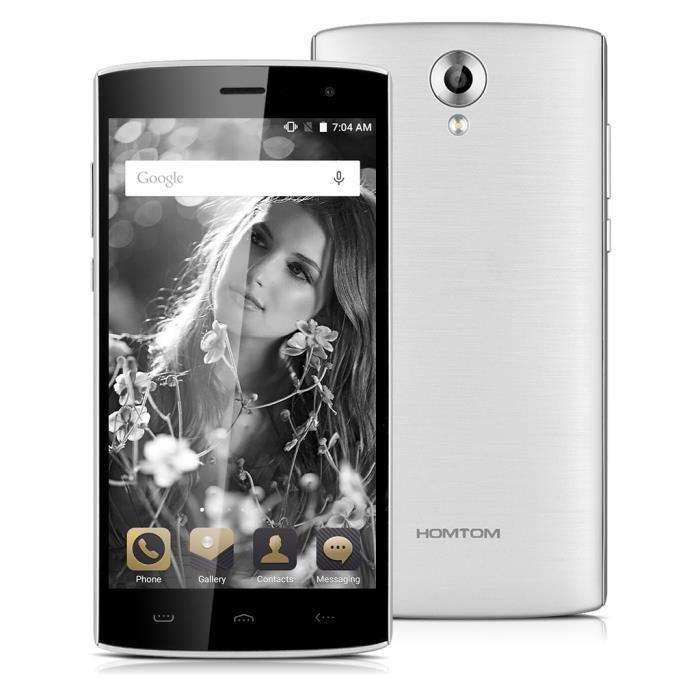"""Smartphone 5.5"""" HomTom HT17 - 4G, 1 Go de RAM, 8 Go"""