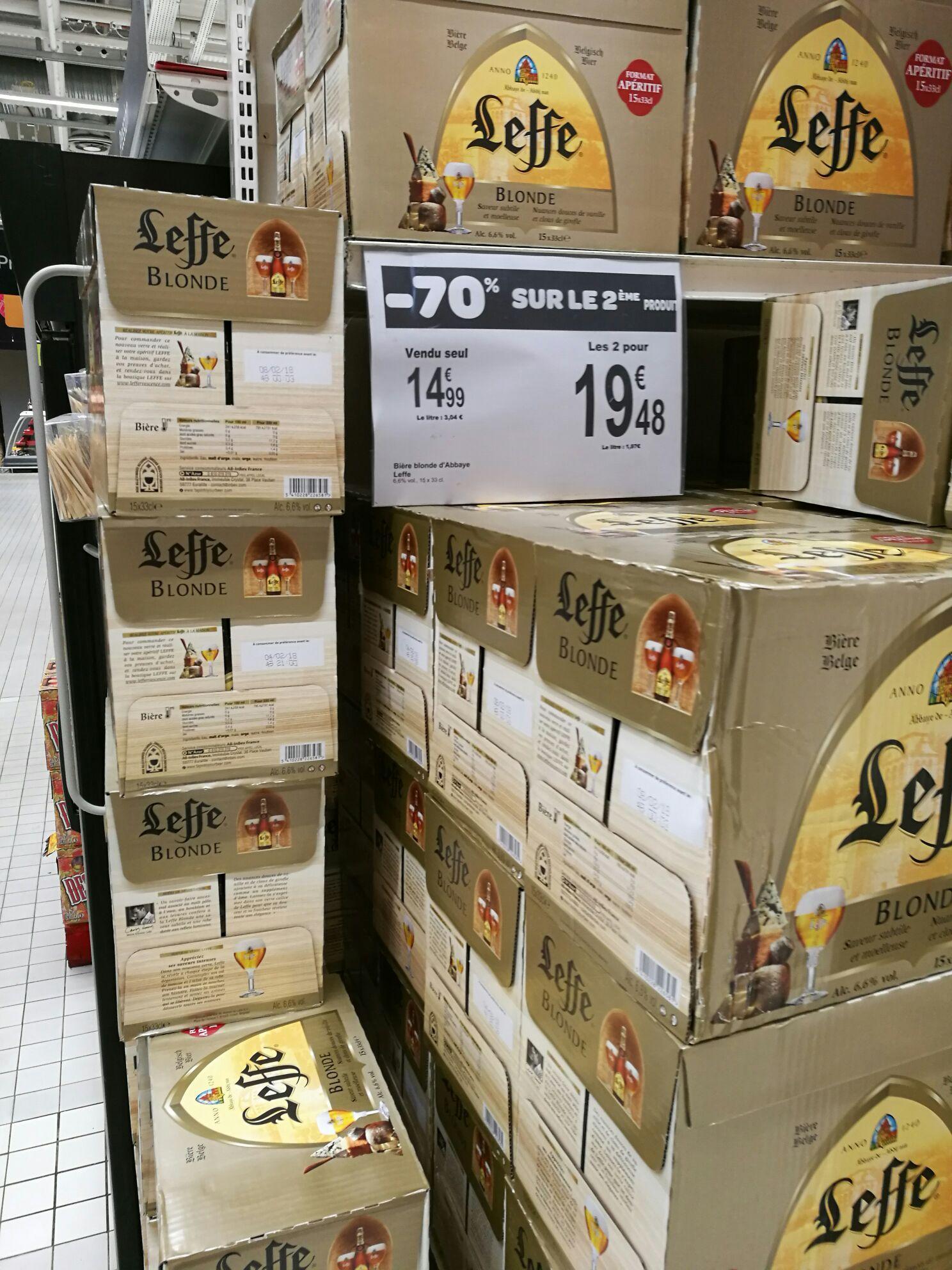 2 packs de bières Leffe (15 x 33cl)