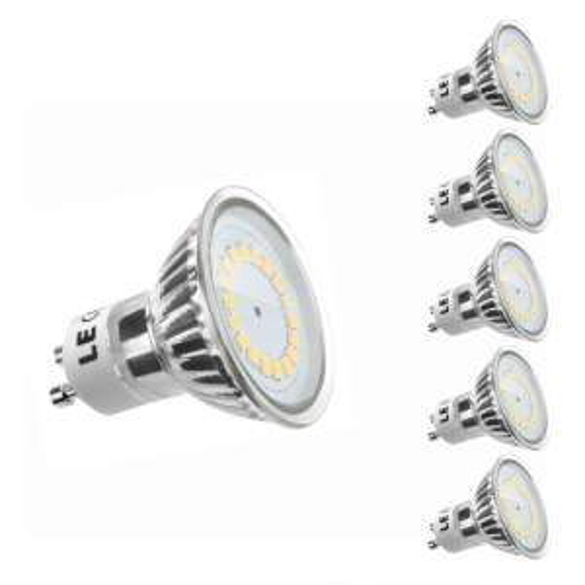 Lot de 5 ampoules LED GU10 - MR16, 3.5W